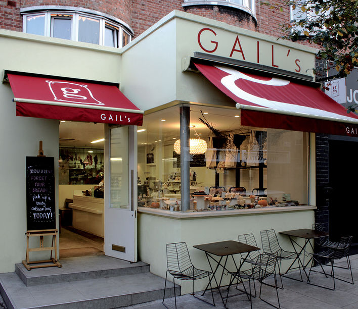 Gails cafe, imagery supplied by Arper