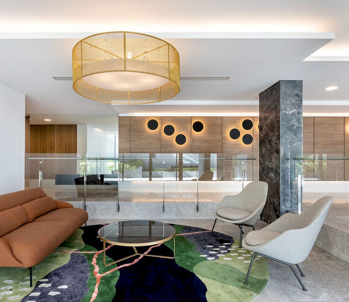 Cutters Landing, Mitchell Lobby by Base Architecture. Photography by Cam Murchison.