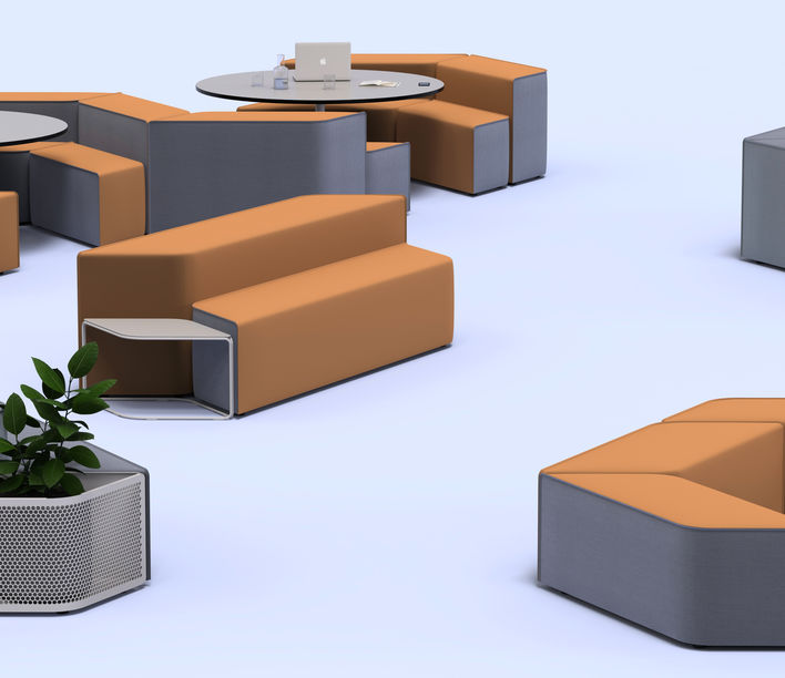Keith Melbourne | Tesserae Modular Seating | Exclusively available from Stylecraft