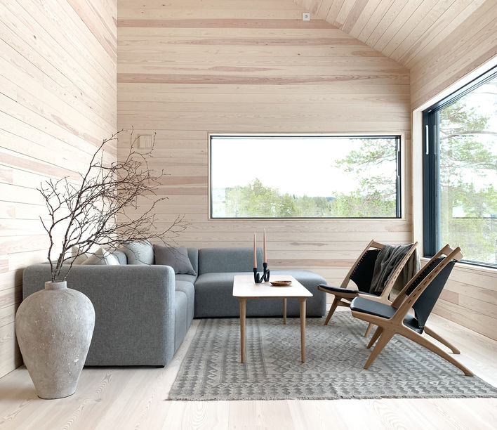 Evja Table and Krysset Lounge Chair   Eikund   Available exclusively from Stylecraft