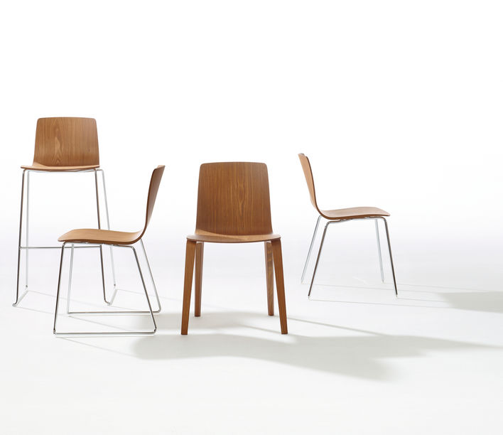 Arper | Aava Timber Leg Chair | Exclusively available from Stylecraft