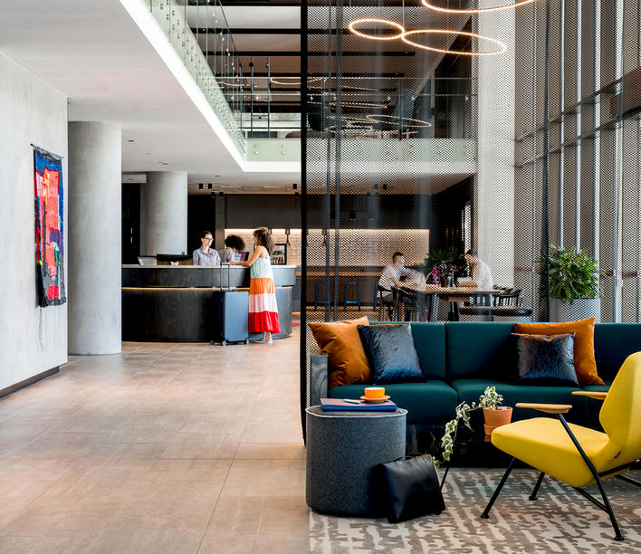 Aloft Hotel, Cox Howlett & Bailey Woodland. Photographer: Dion Robeson