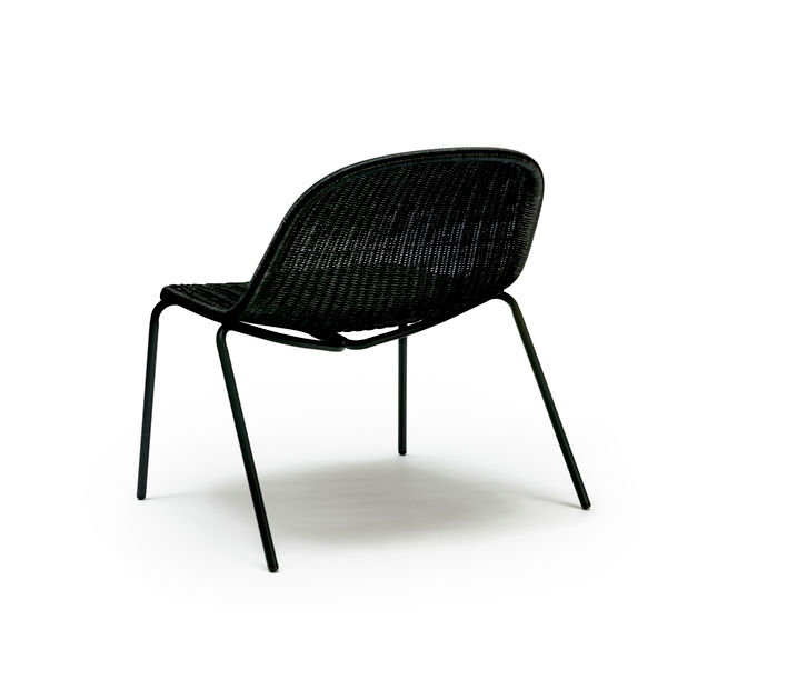 Feelgood Designs | Edwin Lounge Chair in Black Rattan | Available from Stylecraft