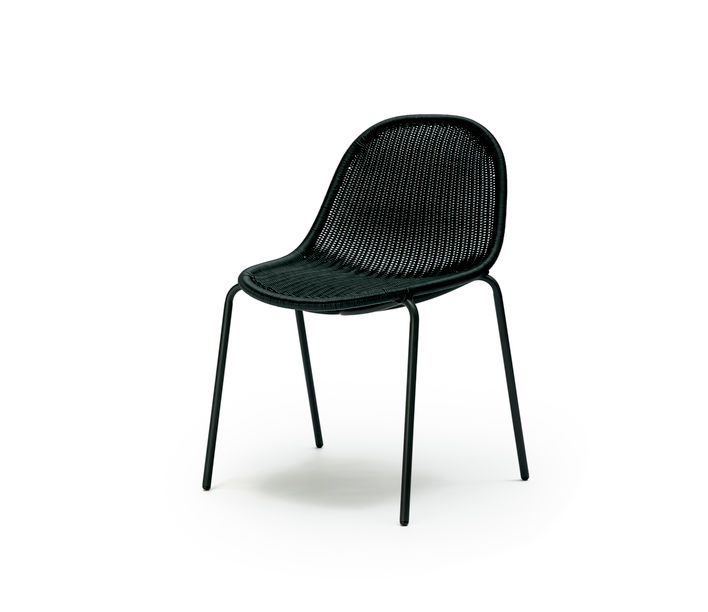 Feelgood Designs | Edwin Stackable Chair in Charcoal Polyethylene | Available from Stylecraft