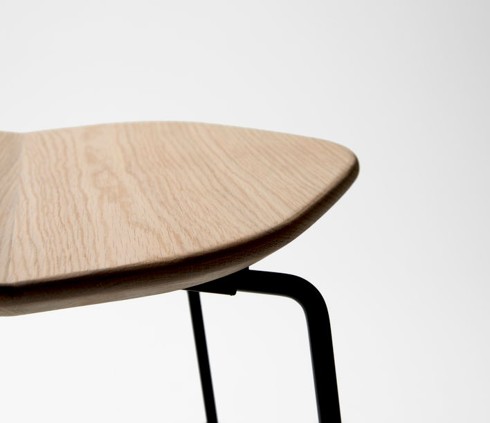Ross Gardam   Duet Stool Seat in Oak   Available exclusively from Stylecraft