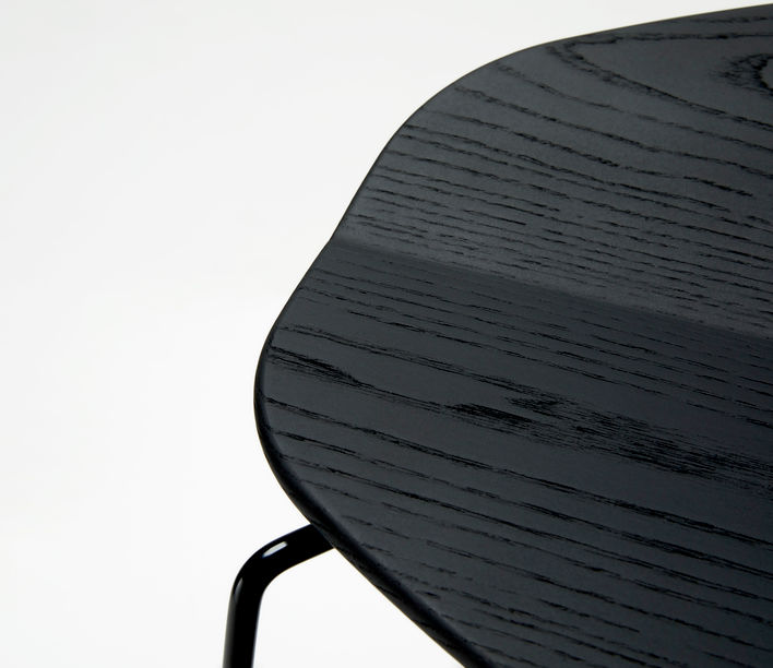 Ross Gardam   Duet Stool Seat in Black Stain   Available exclusively from Stylecraft