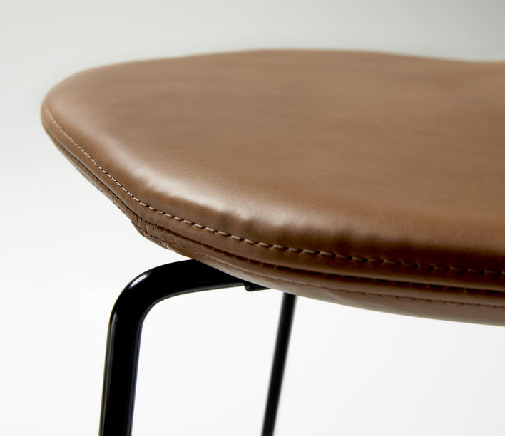 Ross Gardam   Duet Stool Seat in Leather Upholstered   Available exclusively from Stylecraft