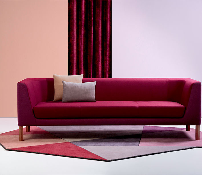 La Primavera Fabric Range designed by Mokum | Featuring Tailored Lounge and Cage Side Table