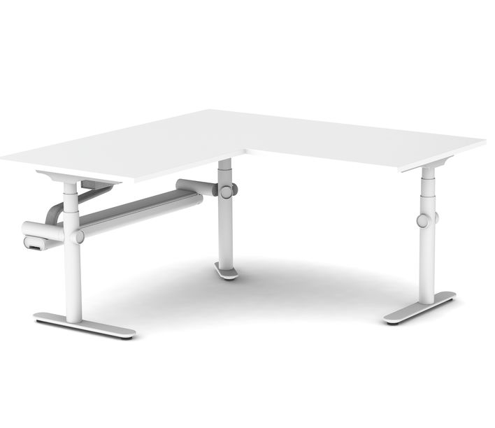 Thinking Works | Stix Workstation | Single Person Corner Workpoint | Exclusively available from Stylecraft