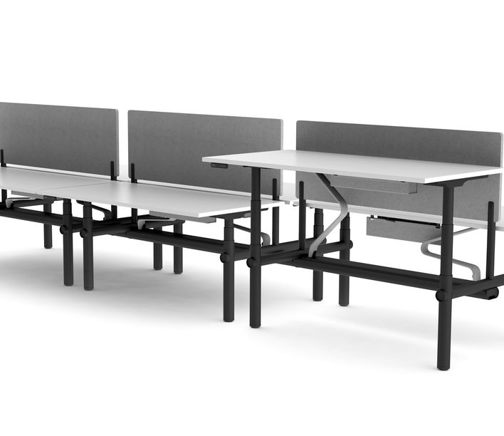 Thinking Works | Stix Workstation | 6 Person Back-to-Back | Exclusively available from Stylecraft