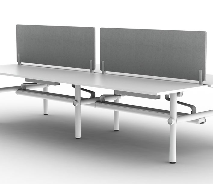 Thinking Works | Stix Workstation | Single Worktop with Central Screens Back-to-Back | Exclusively available from Stylecraft