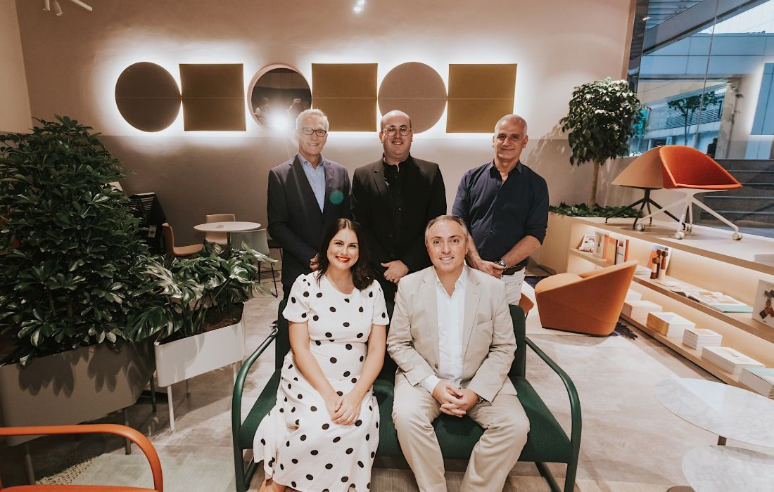 The Stylecraft leadership team pictured at the Singapore showroom opening in 2020