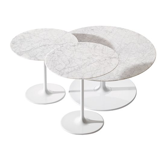 Dizzie tables with marble top, Arper