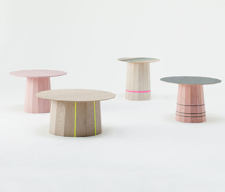 Colour Wood Table